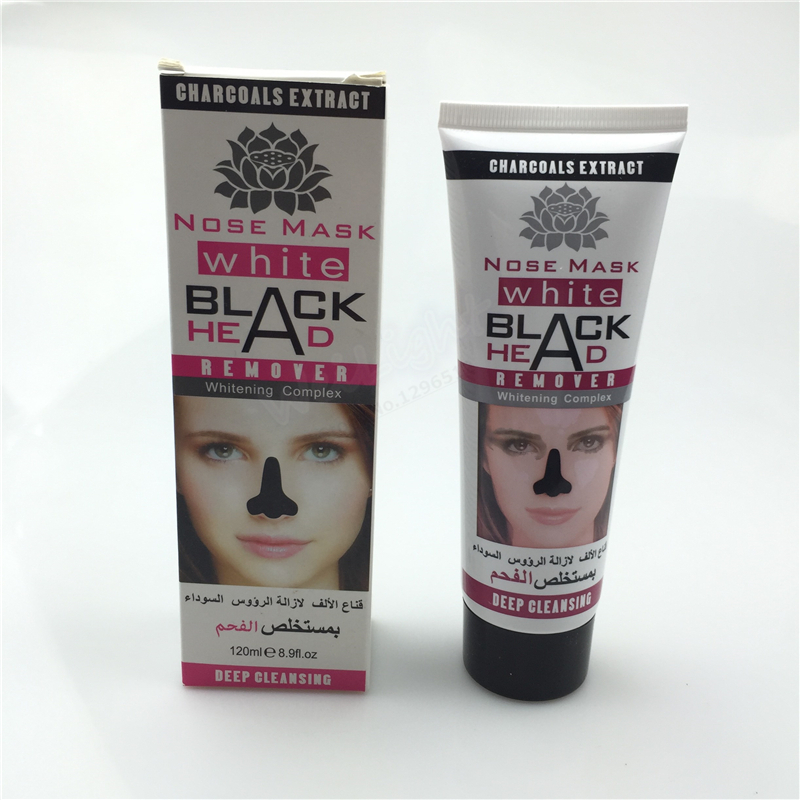2017 mite Killer Shrink pores Black mud mask for Deep clean pores Suction Black Head 120ml/pcs, Strong effect Blackhead-cleaning