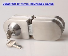 Luxury glass door lock,double lock,stainless steel lock(DG-061)
