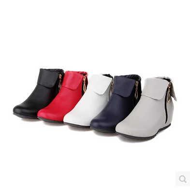 Korte laarzen vrouwelijke en winter Martin laarzen enkele vrouwen laarzen schoenen student platte met 40 verhoogd 41 yards 43