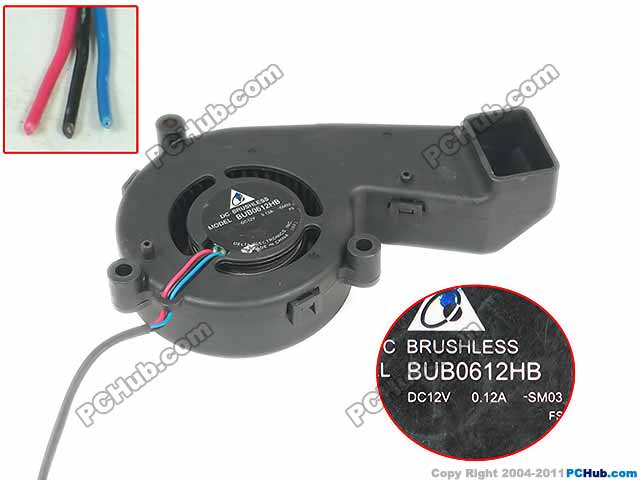 Delta BUB0612HB SM03 Server Cooling Fan DC 12V 0.12A 3-wire free shipping for delta afc0612db 9j10r dc 12v 0 45a 60x60x15mm 60mm 3 wire 3 pin connector server square fan