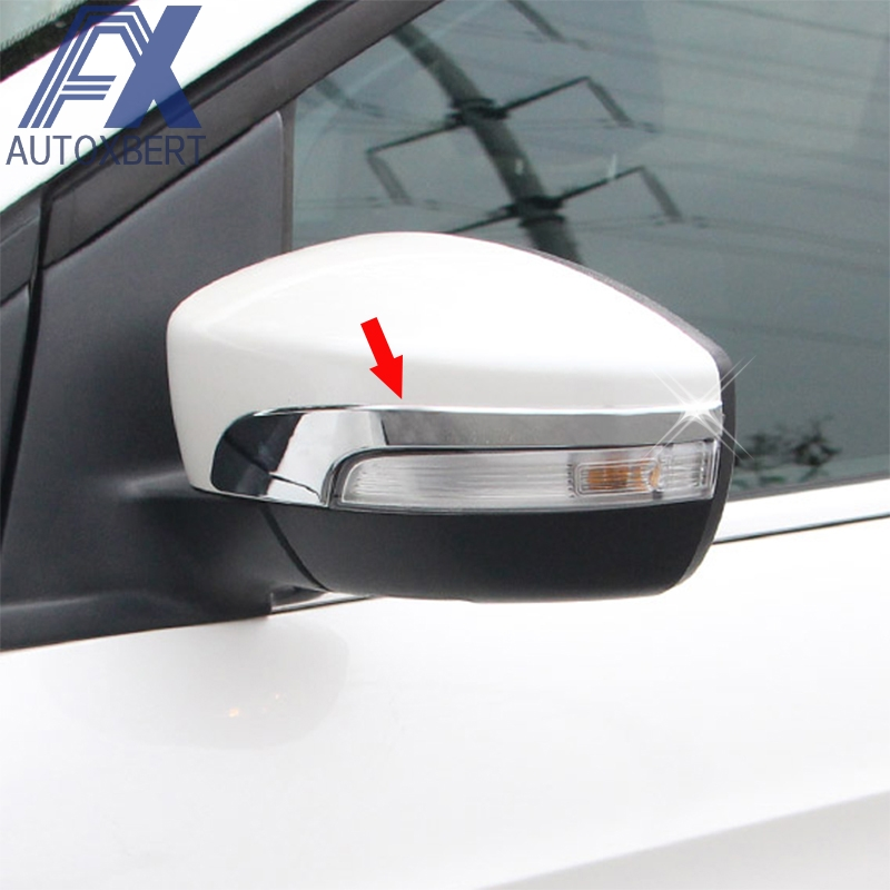Chrome Rear View Side Mirror Cover Trim Molding For Ford Escape Kuga 2013-2016