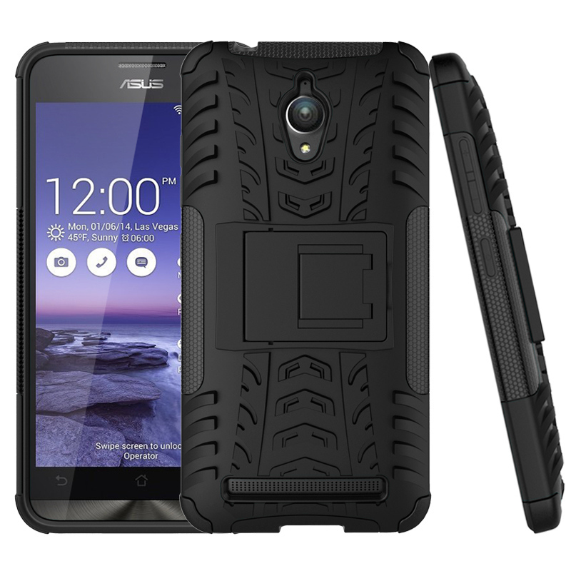 Для Zenfone Go чехол Armor 3D Гибридный Kickstand стенд жесткий Чехлы для <font><b>Asus</b></font> Zenfone Go <font><b>ZC500TG</b></font> мобильный телефон Чехол Силиконовый