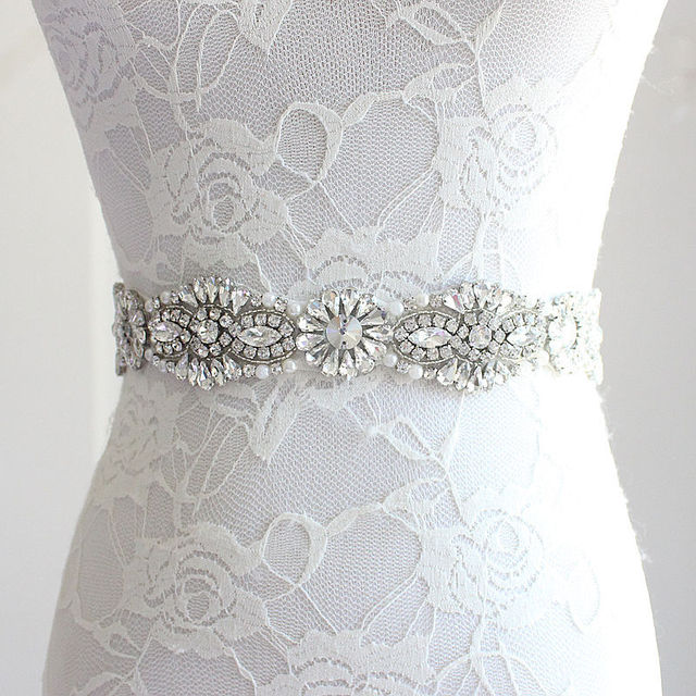 The Bride Wedding Dress Belts And Accessories Europe Luxury Diamond Girdle Stone Red White