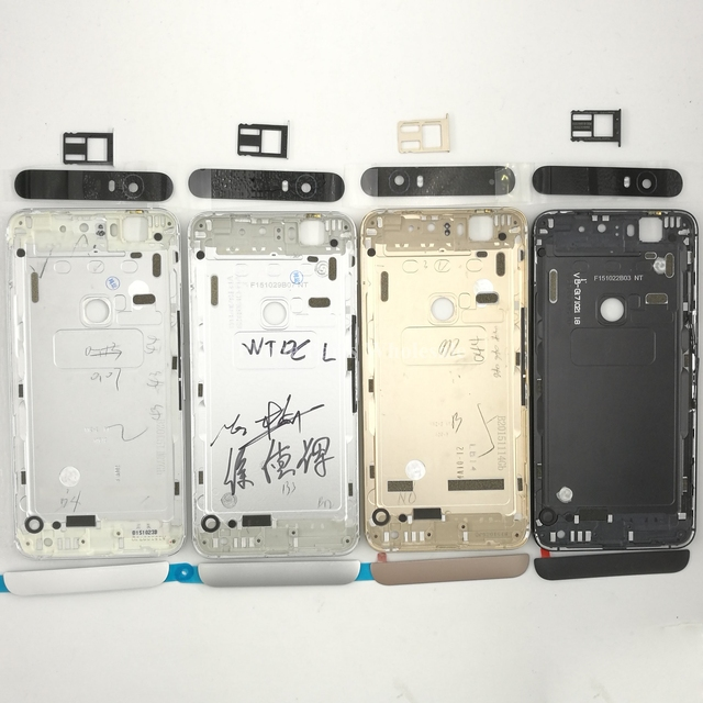 Para huawei google nexus 6 p original traseira nova bateria habitação porta com Lente De Vidro Da Câmera + Sim Card Tray + Botão Lateral partes
