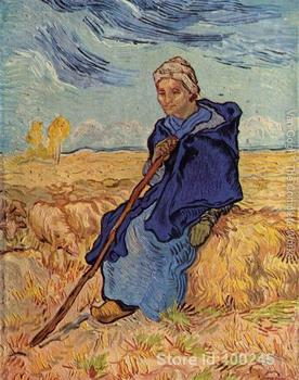 Online Art Gallery Vincent Van Gogh Handmade oil paintings old woman sitting High quality