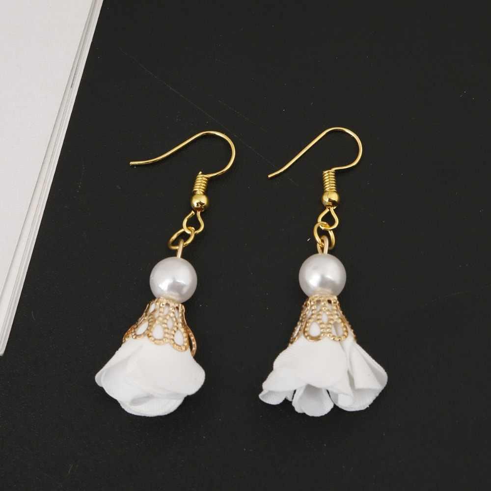 10pcs אופנה פנינת פרח אבזם ציצית קסם עבור DIY עגיל שרשרת צמיד Keychain נייד תכשיטי ביצוע ממצאי קרפט