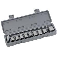 Auto Repair Tool 10 Piece Socket Wrench Combination Multifunction Hex Sleeve Machine Repair Auto Repair Hardware Set Toolbox