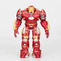 2 Iron Man Avengers Hulkbuster Armadura Articulaciones móviles 18 CM Marca Con Luz LED PVC Action Figure Collection Modelo de Juguete