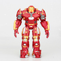 Avengers 2 Iron Man Hulkbuster Armor Joints Movable 18CM Mark With LED Light PVC Action Figure Collection Model Toy