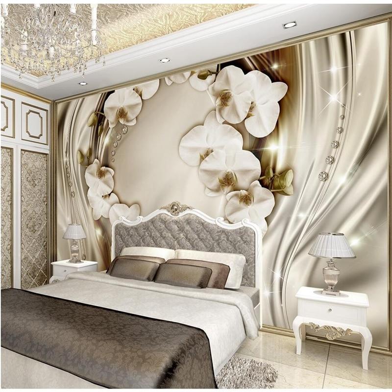 Bedroom Kiss Wallpaper Bedroom Tiles Bedroom Colours According To Vastu Shastra Bedroom Arrangement Designs: Beibehang Custom Wall Paper Diamond Romance Luxury Wall