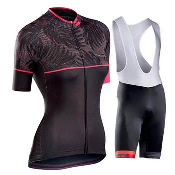 4223f9d9de39 NW 2019 nueva camiseta de ciclismo para mujer conjunto de ropa de manga  corta de secado rápido equipo profesional MTB bicicleta ropa de montar en  ...
