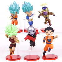 6PCS Anime Dragon Ball Super Tournament Of Power Goku Vs Jiren Zeno Zamasu Trunks PVC Action