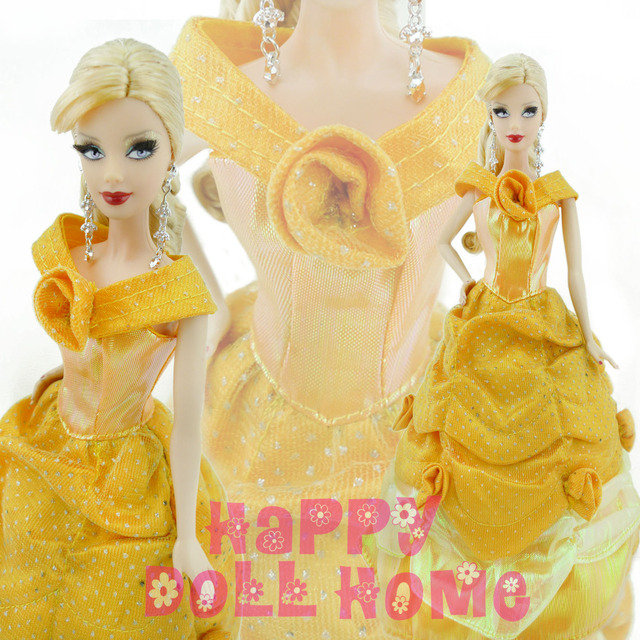 New Style Handmade Beauty Princess Belle Doll Clothes For Barbie Doll Girlsu0027 Gift Baby Toy  sc 1 st  AliExpress.com & New Style Handmade Beauty Princess Belle Doll Clothes For Barbie ...