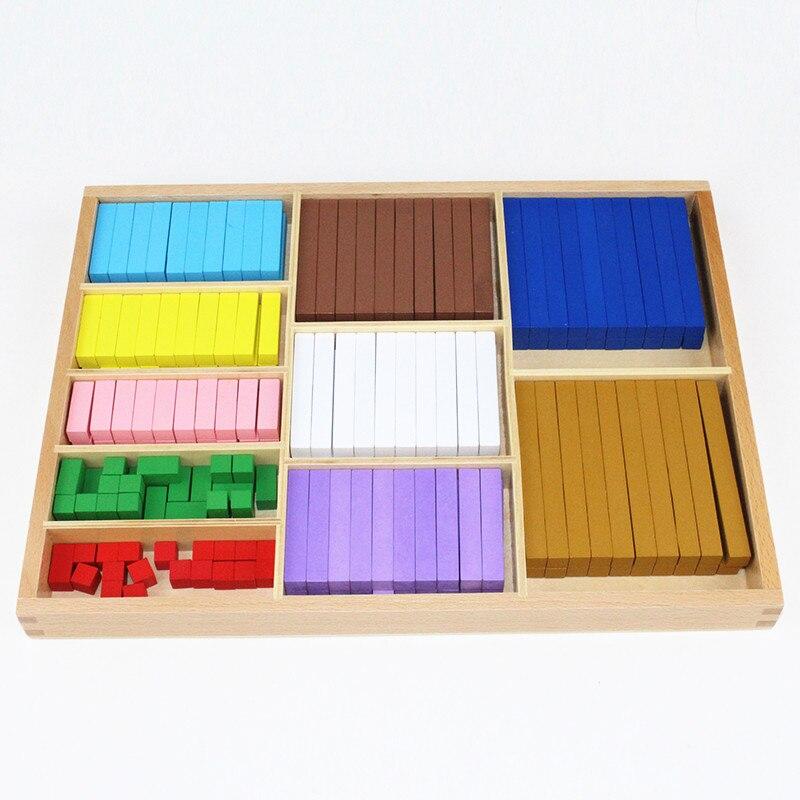 20 sortes 1-10 cm blocs bâton numérique en bois jouets enfant jouets éducatifs enseignement Montessori jouet de mathématiques - 2