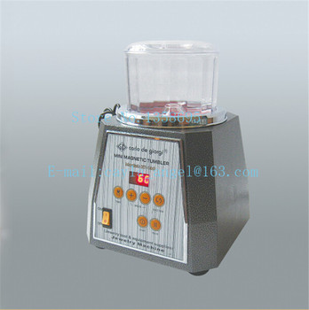 220V Variable Speed 155*115mm Bucket size Mini Magnetic tumbler Polisher Grinding Machine with FREE 300g Magnetic Pins 300g