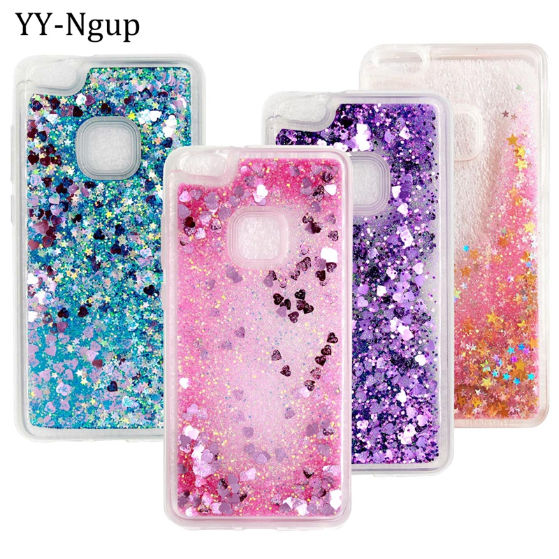 online retailer a6563 f58a3 US $3.49 |Pouzdro Quicksand Phone Case for Huawei P10 Lite Case Cover  Telefontok for Huawei P10 Plus P9 Lite Mini P8 Lite 2017 Case Women-in  Fitted ...