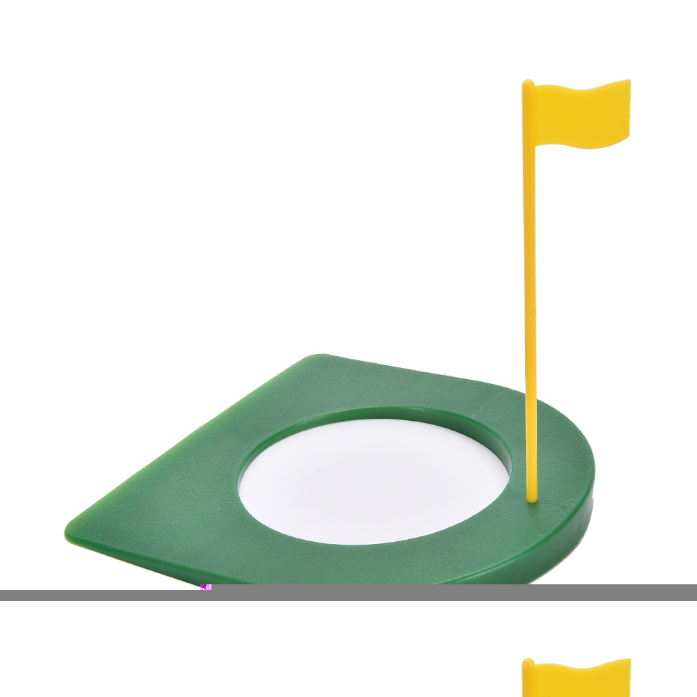 GOLF In/Outdoor Regulation Putting Cup Hole Putter Practice Trainer Aid Flag