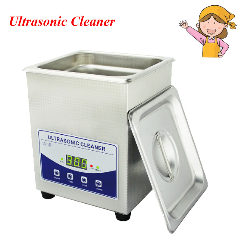 1pc 2L Digital Household Ultrasonic Cleaner for Glass Jewelry Shaver PCB Cleaning Machine JP-010T 2l ultrasonic cleaner heater power adjustable for contact lens jewelry rings dental eyeglasses pcb cleaning machine transducer