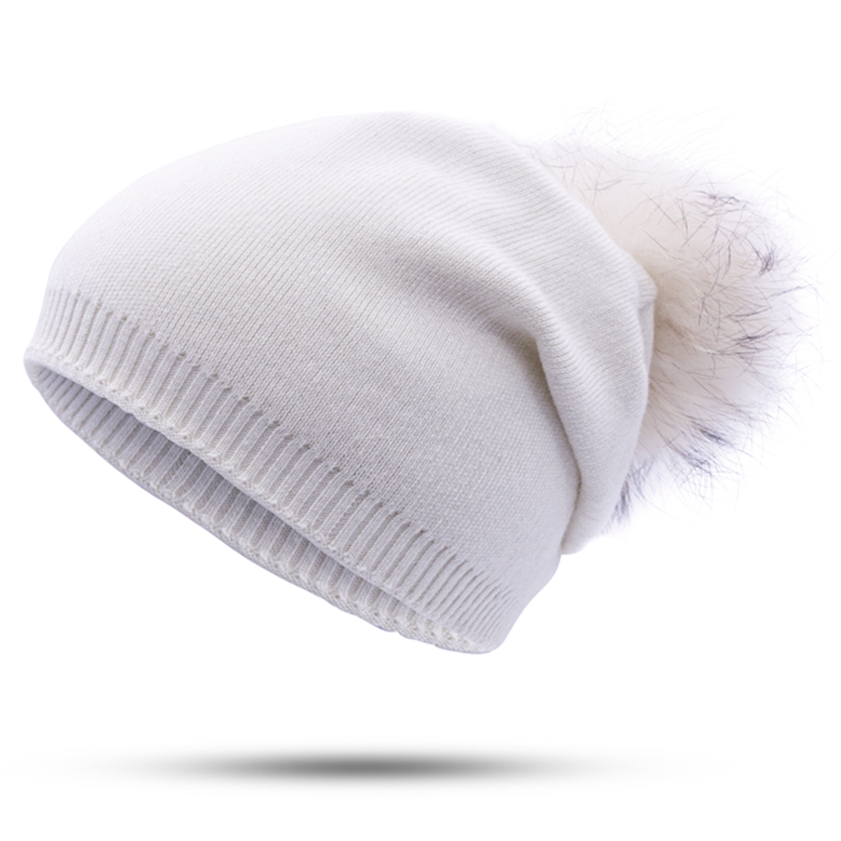 b3226ebdd56 ... WISH CLUB Fashion Winter Women s Hat Skullies Beanies Pom Poms Brand  Winter Cap Cashmere Warm Hat ...