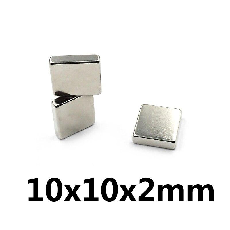 20pcs/lot F 10x10x2 Mm N35 Strong Square NdFeB Rare Earth Magnet 10*10*2 Mm Neodymium Magnets 10mm X 10mm X 2mm