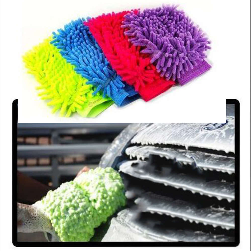 Super Mitt Microfiber Car Wash Gloves Washing Cleaning Anti Scratch Car Washer Household Care Brush Car Cleaning Brush Hot