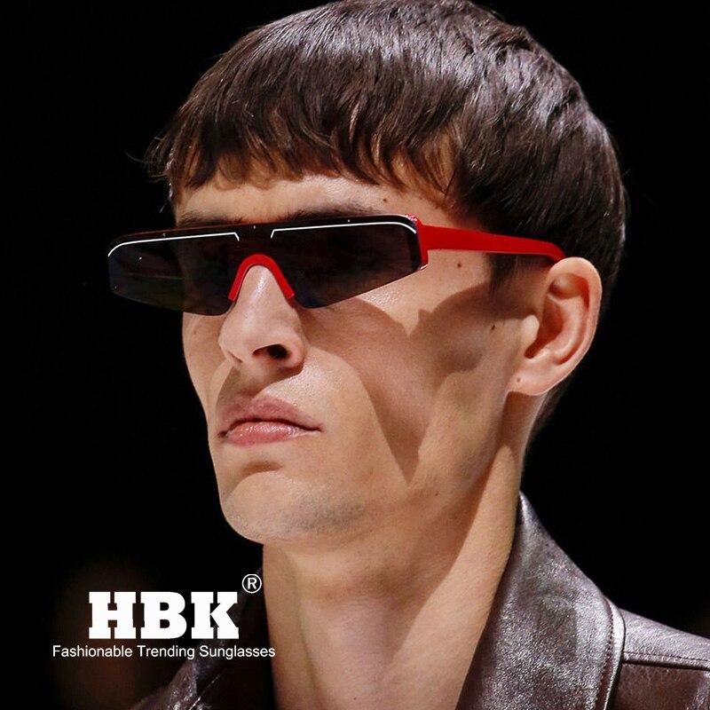 c85d82d4aa HBK pequeño rectángulo gafas de sol hombres mujeres 2019 moda fresca  femenina sombra marca Oculos marca de revestimiento gafas de sol para hombre  K32195 en ...