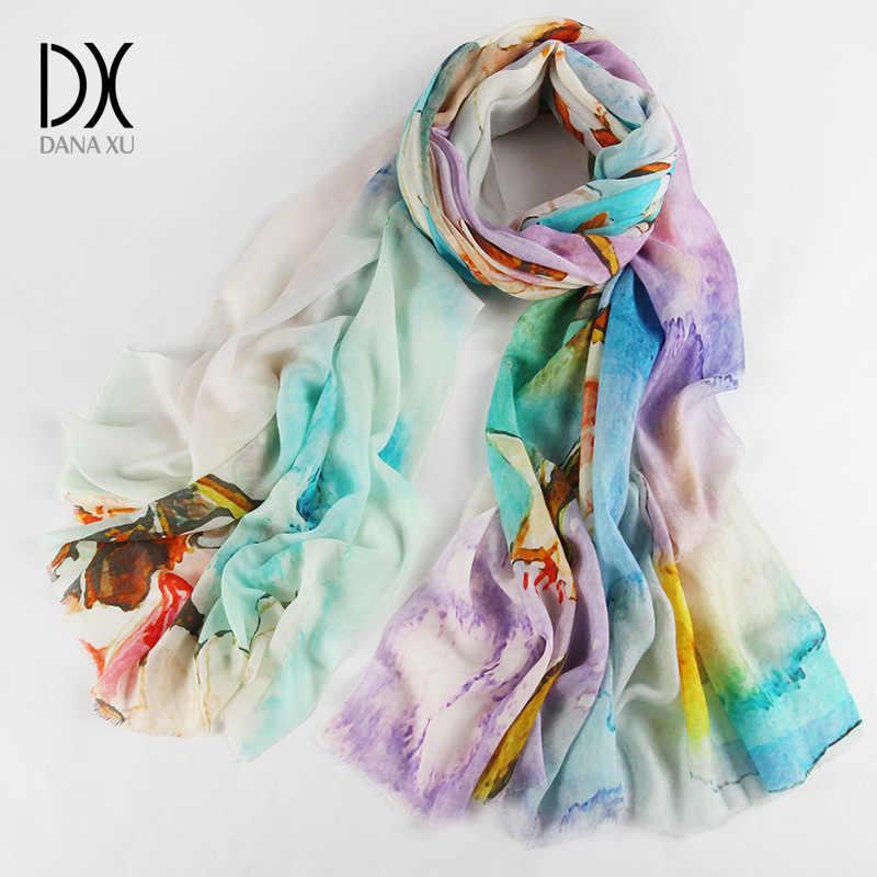 Invierno de la marca de lujo de la bufanda de la Cachemira de las mujeres de gran tamaño manta bufanda de lana, bufanda de las mujeres chales Pashmina y bufandas