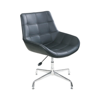 Deluxe PU Leather Leisure Chair Home Casual Chair With Height Adjust
