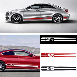 New Fashion Durable Car Sticker For Benz C Class W205 AMG Edition 507 Racing Stripe Body Side Skirt