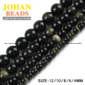 Gold Obsidian Top quality Natural Stone Ore beads Round Loose beads ball 6/8/10/12MM handmade Jewelry bracelet making DIY new