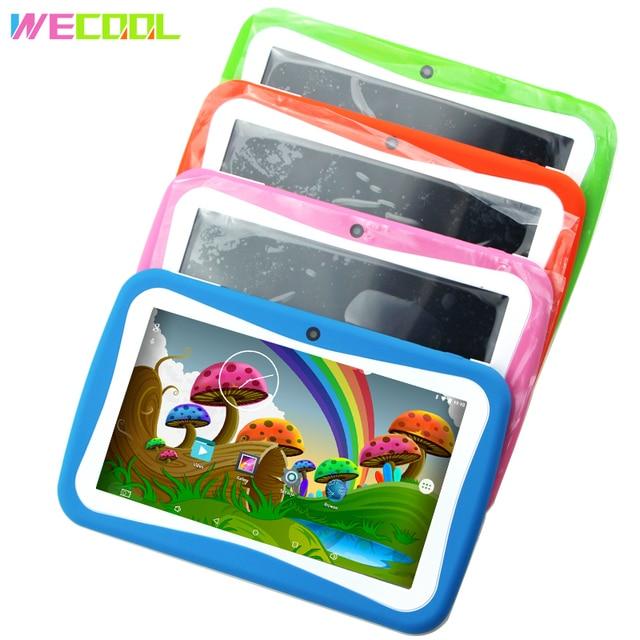 Wecool K7 детский планшетный ПК 7 дюймов андроид 5.1 Обучение детей PAD четырёхъядерный 8 ГБ 1024x600 Экран программное обеспечение для управления родителями Дети Образование Игры обучающий ПК День Рождения подарок