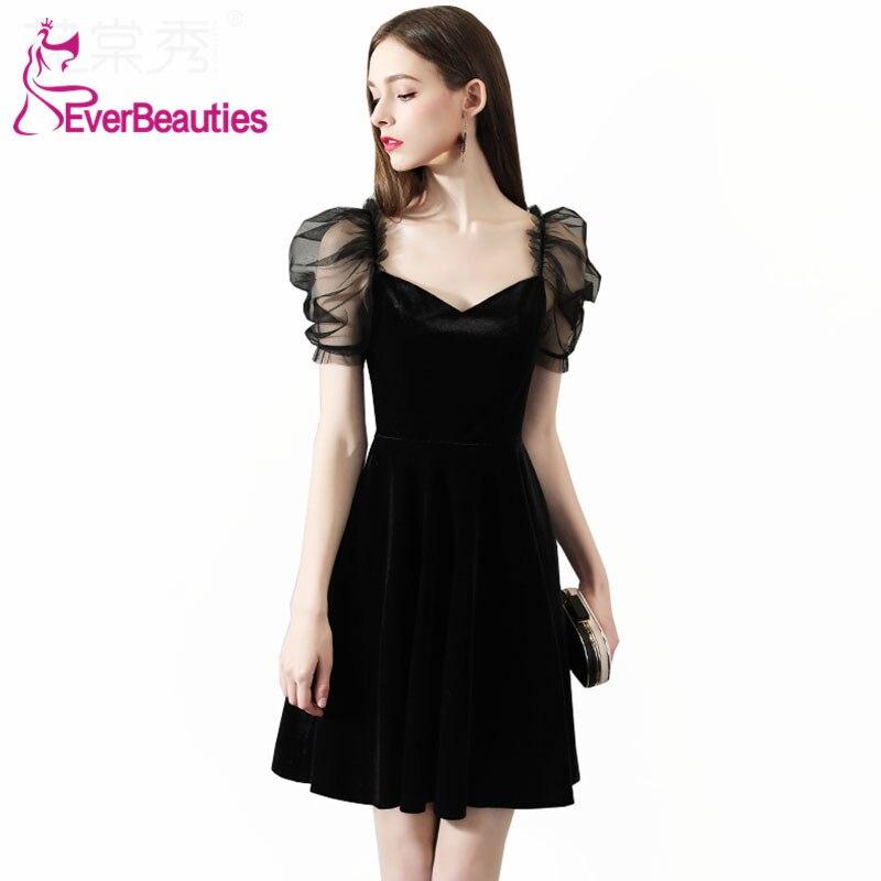 Mermaid   Cocktail     Dresses   Short Black Prom Party   Dresses   Homecoming   Dresses   Robe De   Cocktail   2019