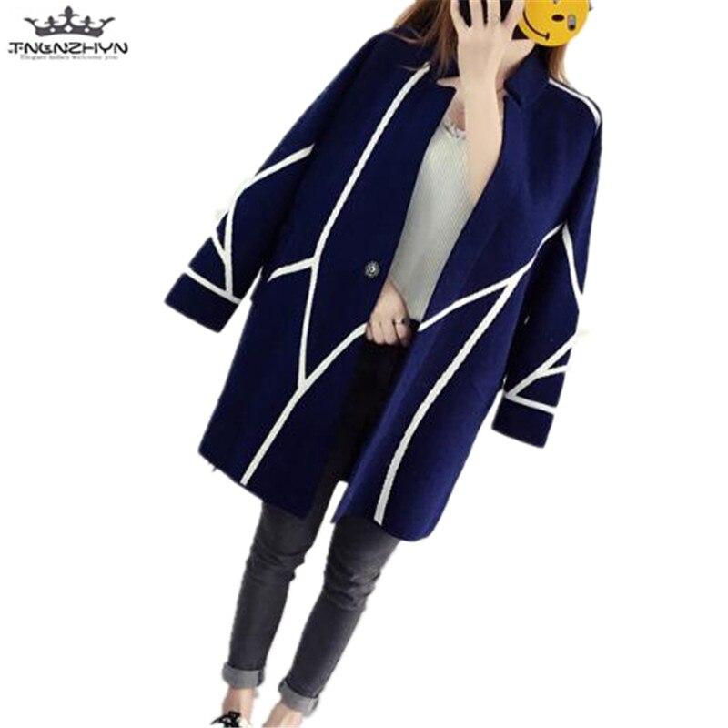 tnlnzhyn 2018 Autumn Winter Women Sweater Cardigan Long Women Long Sleeved Slim Knitted Cardigan Female Sweaters Coat Y590 ...