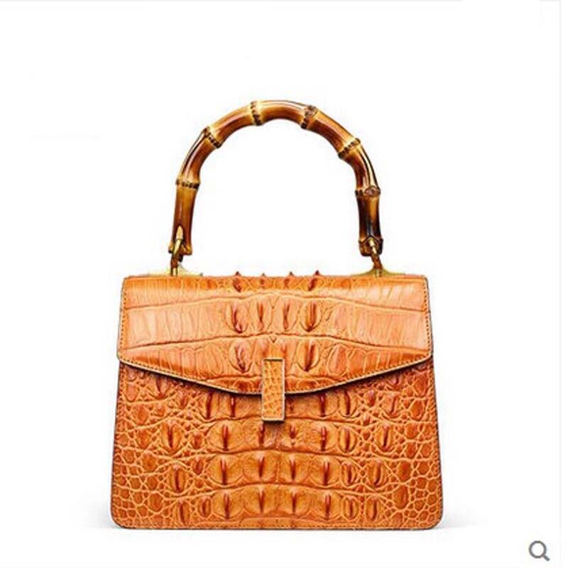 gete New alligator skin women handbag genuine leather Thai crocodile leather single shoulder bag ladies' handbag women bag