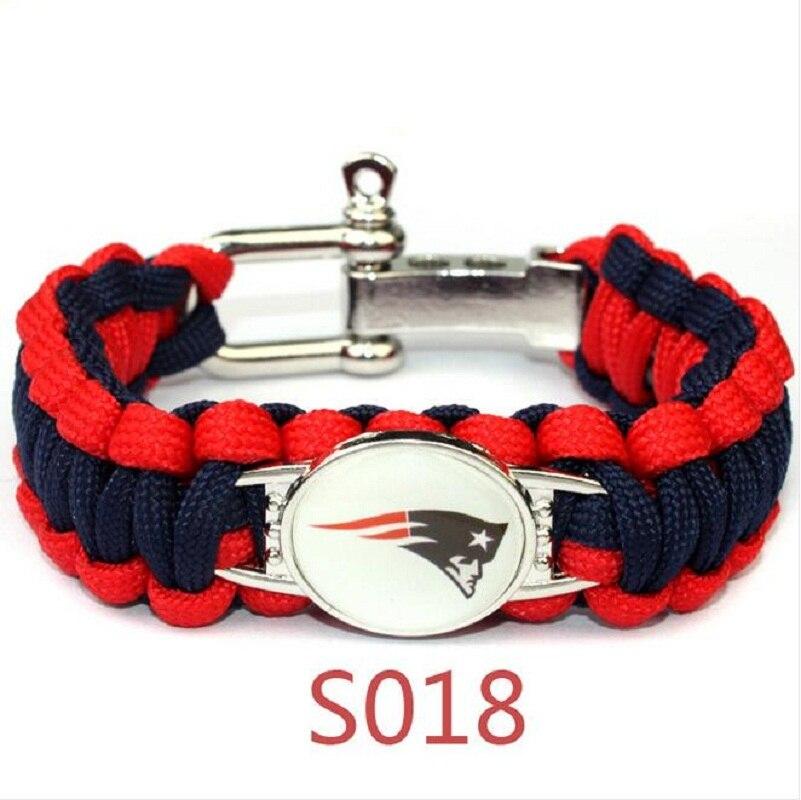 47ce95ac94e23 American football bracelet 13 teams for choose San Francisco 49ers 25cm  umbrella braided bracelet football fans gift 10pcs-in Chain & Link Bracelets  from ...