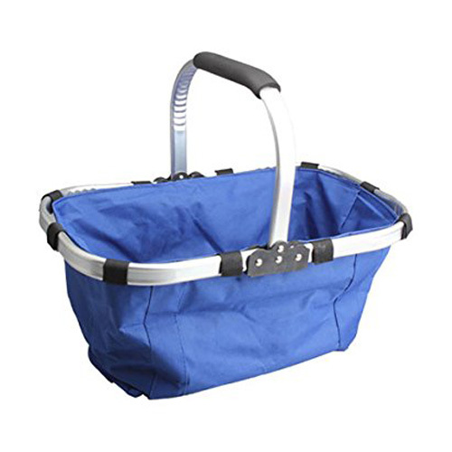 FGGS-Waterproof Foldable Eco-friendly Reusable Shopping Bag Grocery Basket Blue