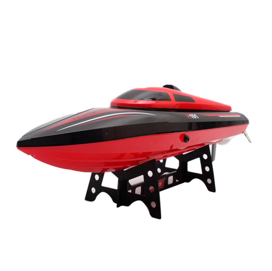 RC Boat Skytech H101 2.4G Remote Control 180 Flip High Speed Charger Electric RC Racing Boat for kids gift t227 lcll rc boat radio remote control twin motor high speed boat rc racing toy gift for kids eu plug