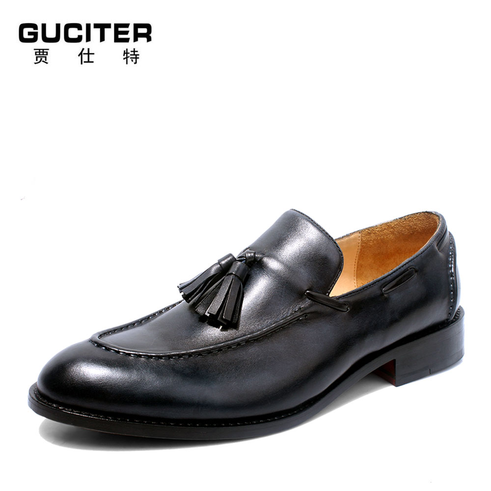 100%Full cowhide Customized Genuine Leather Goodyear Welt Handmade Loafer Shoe Men's Handcraft Dress Formal Shoes free shipping skp136 custom made goodyear 100% genuine leather handmade oxfords shoes men s handcraft dress formal shoes large plus size