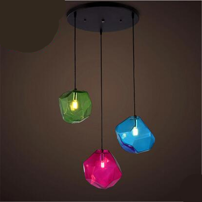 NEW Vintage Handmade Multicolors Crystal Glass Led G9 Pendant Light for Dining Room Living Room Glass pendant Lamps 2192 vintage handmade carved crystal glass bulbs led g9 pendant light for dining room living room bar restaurant lamps 1484