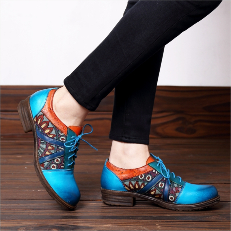 Women Flats Genuine Leather Oxfords Shoes Handmade Casual Lace Up Round Toe Green Pink 2019 New Fashion Design Mix ColorWomen Flats Genuine Leather Oxfords Shoes Handmade Casual Lace Up Round Toe Green Pink 2019 New Fashion Design Mix Color