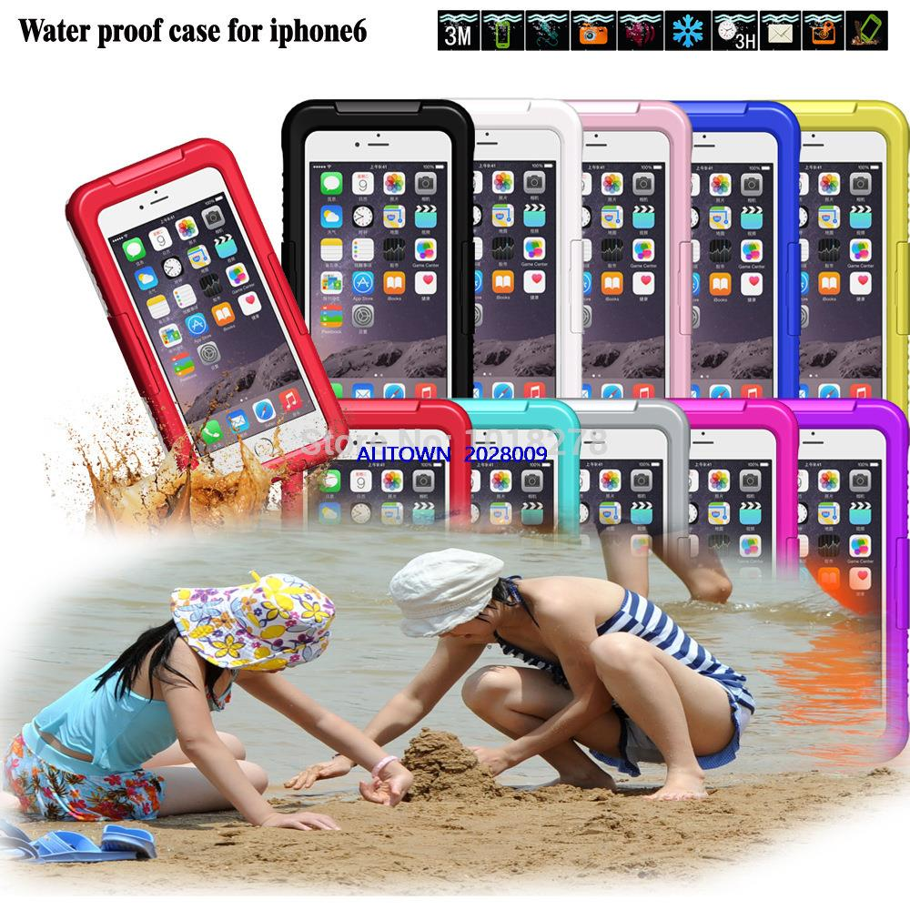 Mobile Phone Cases 2014 Newest Durable Dirt Shockproof Silicone Waterproof Cover Case Bag 4 7 Inch