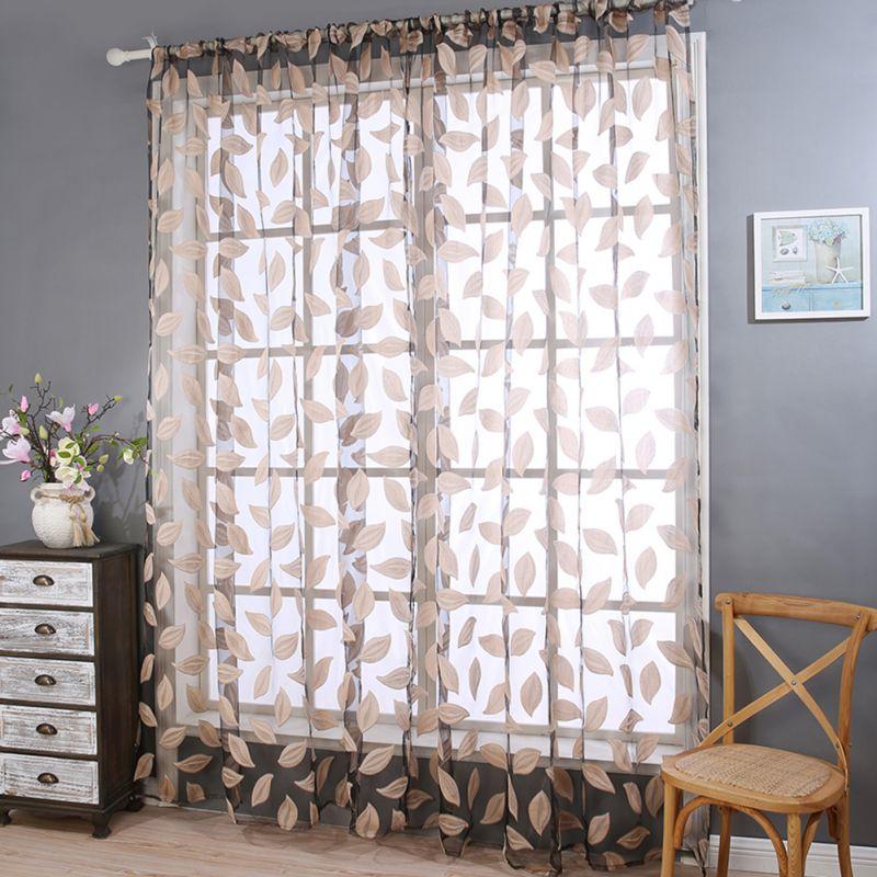 hojas de tela de tul cortinas cortinas para la sala de estar dormitorio cocina persianas cortinas