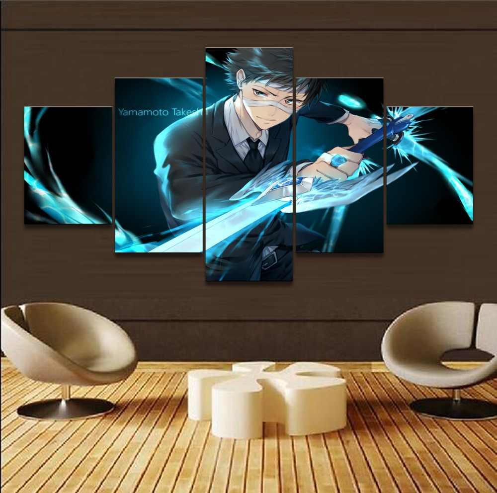 Canvas Vẽ Tranh Hiện Đại Trang Chủ Trang Trí Tường Nghệ Thuật 5 Bảng Điều Chỉnh Anime Reborn Takeshi Yamamoto Poster HD In Hình Ảnh Mô-đun