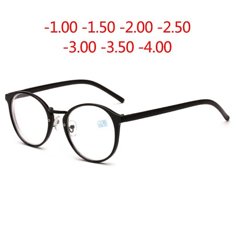 012332fa51e8 Хорошее качество круглые готовые очки для близорукости Новые оптические  Мужские Женские студенческие очки рецепт AC линзы