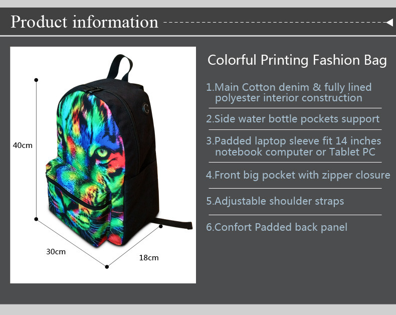 Cotton Fabric Backpacks