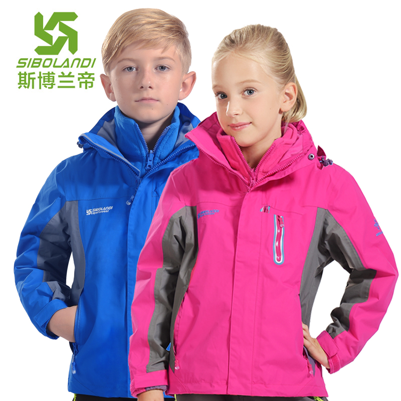 2015 childrens outdoor 3-in-1 jacket all season child's twinset boys girls climbing jacket sportswear ski jacket waterproof пена монтажная mastertex all season 750 pro всесезонная