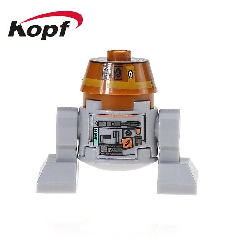 20Pcs Super Heroes C1-10P Star Wars Smart Robot C110p RSJ2 Classic R2D2 BB8 Dolls Bricks Building Blocks Children Toys XH 526