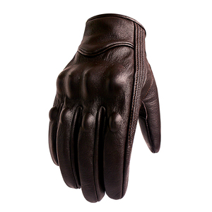 Image 2 - Motorcycle Gloves Leather Touch Screen Men Genuine Leather Cycling Glove Motorbike Racing guantes de moto luvas de motocicleta