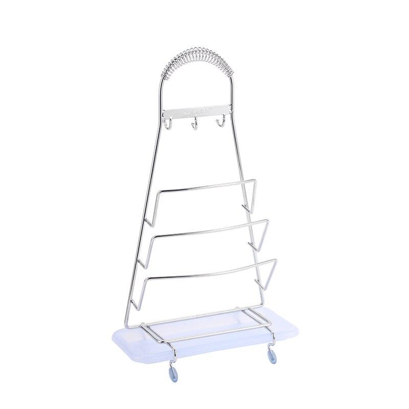 Cuisine en Acier inoxydable sous-plat Plan De Travail économiseur POT PAN Stand rack 19 cm Wave Design
