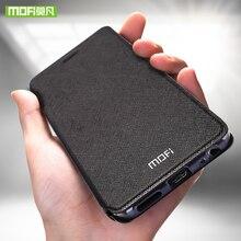 Para cas para Meizu Meizu Pro 7 Plus Pro 7 caso de silicio cubierta cuero del tirón de lujo caso Mofi original para Meizu Pro 7 Plus 360 capa
